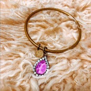 Loren Hope Golf Bracelet with Orchid Pendant